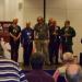 The England 1 team getting their bronze medals in the 50+. Nunn, Arkell, Speelman, Flear, Hebden