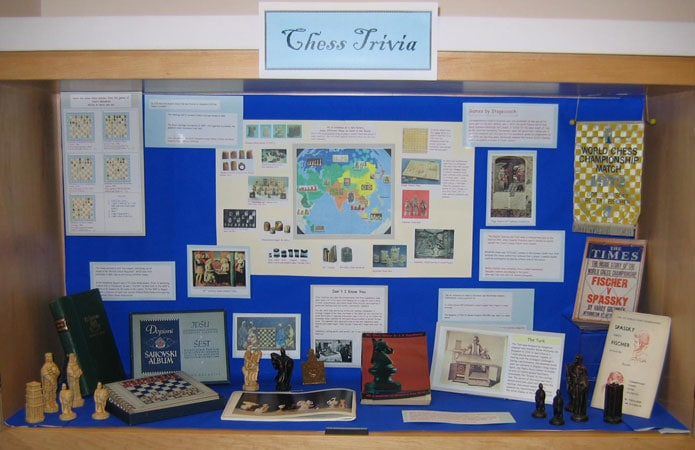 Chess Trivia display case