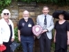 Margaret Haddrell, David Welch, Neill Cooper holding the trophy, Judy Stone