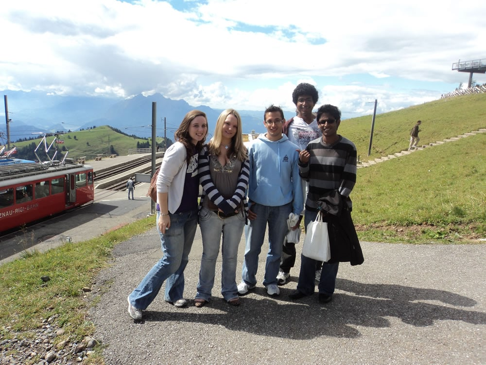 Team GB on mount Rigi