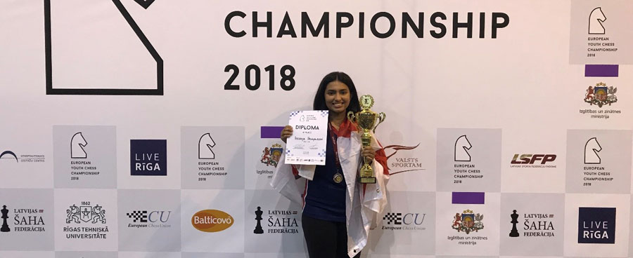 Akshaya – Bronze medal winner at the EYCC 2018!