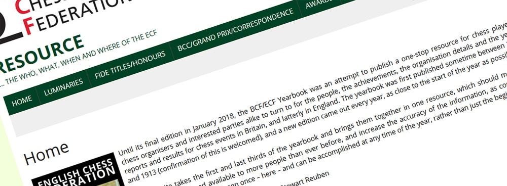 The ECF Resource website …