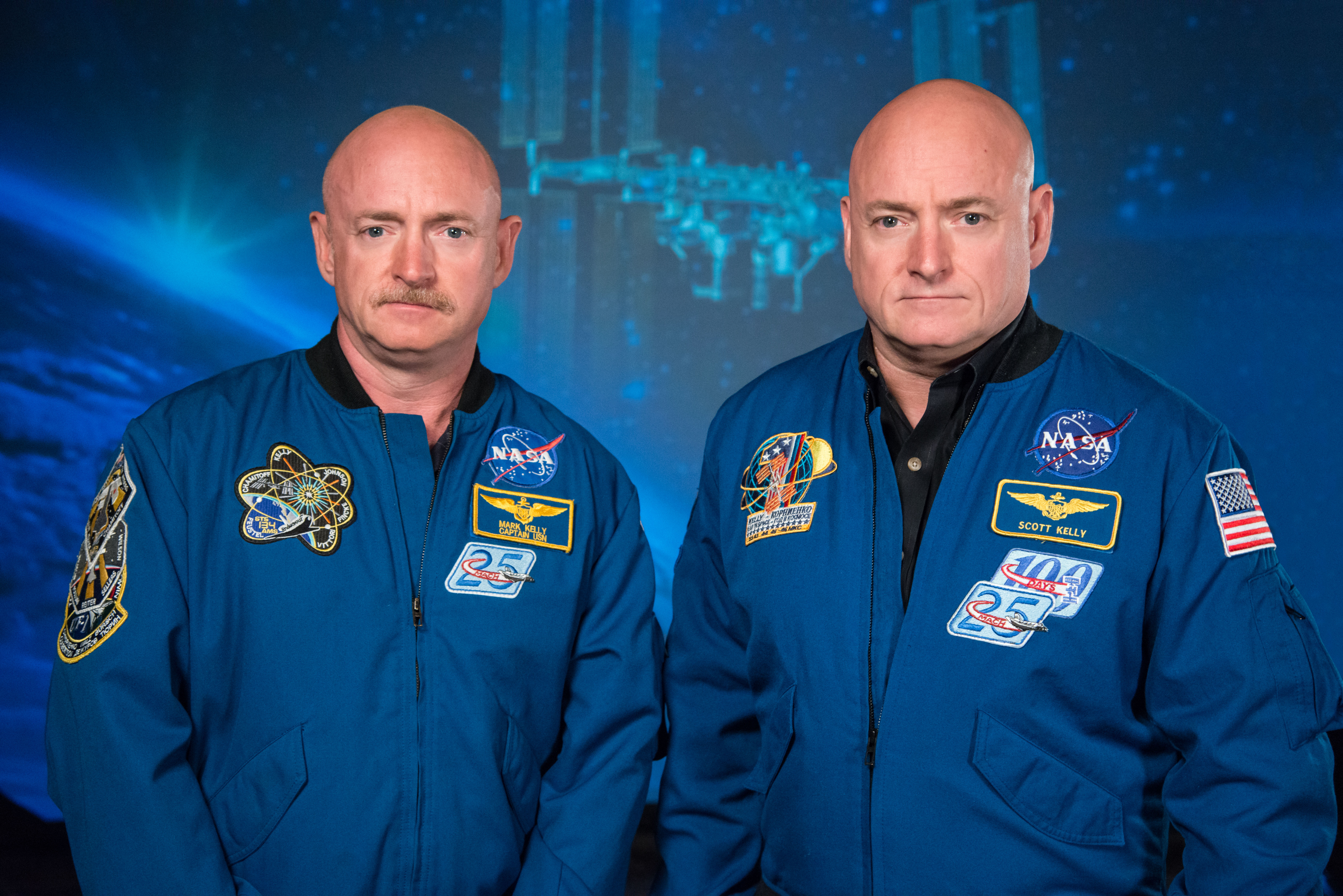 Mark and Scott Kelly NASA twins