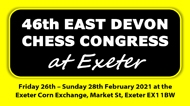 46th East Devon Chess Congress @ Exeter Corn Exchange, Market Street, Exeter