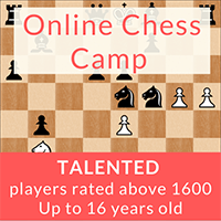 Online Chess Camp (under 16 rated 1600+) @ Online
