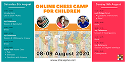Summer Chess Camp @ https://chessplus.net/online-chess-camp-for-children/